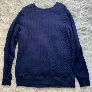 Gap Men's Navy Blue Crew Neck Sweater Large